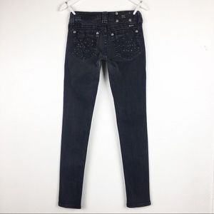 Miss Me Size 27 Faded Black Skinny Jeans JP6113S